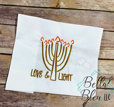 Hanukkah Menorah Love & Light