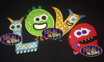 Applique Love Monsters Monster Valentine Applique Embroidery Design