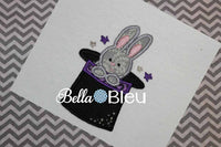 Magic Bunny in a Magician Hat Machine Embroidery Design Easter Circus