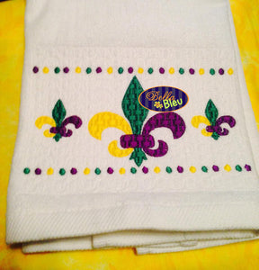 Faux Smocking Mardi Gras Fleur De Lis Machine Embroidery Design