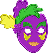 Mardi Gras Mask Machine Applique Embroidery Design
