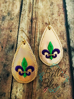 ITH Mardi Gras Earrings 3 sizes