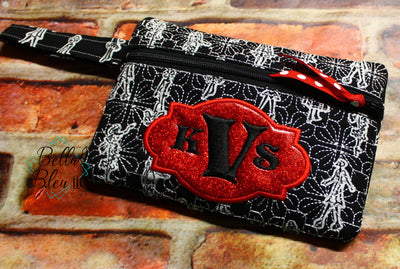 ITH Fancy Monogram Zipper bag wallet
