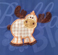 Alaska Moose Animal Applique Embroidery Design