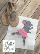 Ballerina Ballet Mouse Sketchy Machine Embroidery design Nutcracker