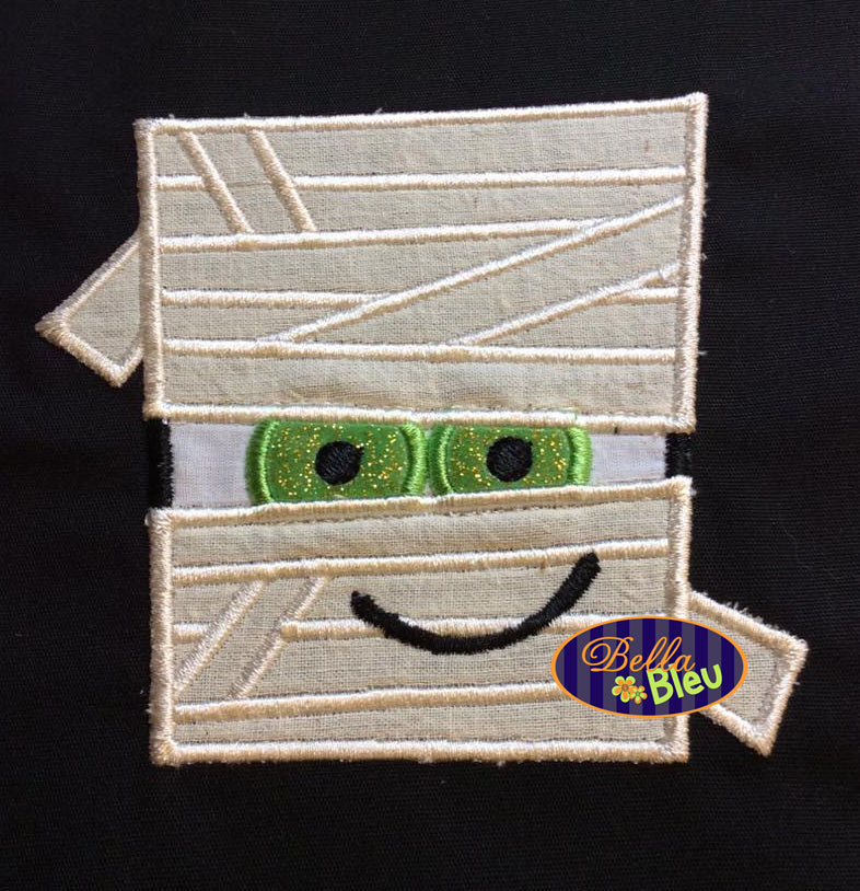 Halloween Mummy Machine Applique Embroidery Design