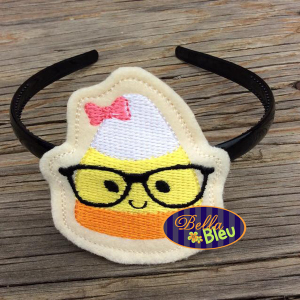 ITH Halloween Nerdy Girl Candy Corn Headband Slider Topper