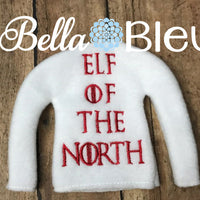 Elf of the North Inspired Game of Thrones Sweater in the hoop machine embroidery design