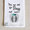 Weight Scale You are not the Boss of me! sketchy Saying Machine Embroidery