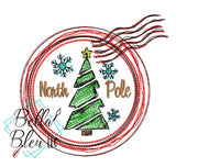 North Pole Christmas Stamp Scribble