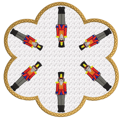 Nutcracker Candle Mat In the hoop ITH 8x8 hoop