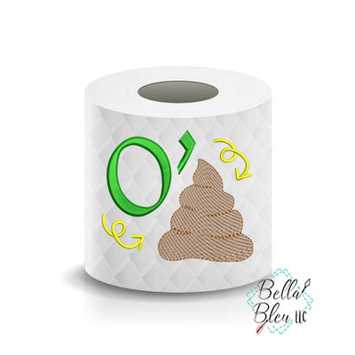 O'Shit St Patricks Day Toilet Paper Funny Saying Machine Embroidery Design sketchy