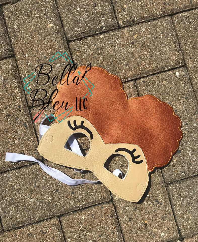 ITH In the Hoop Inspired Winnie Hocus Pocus Halloween Kids Childs Play Mask Masks