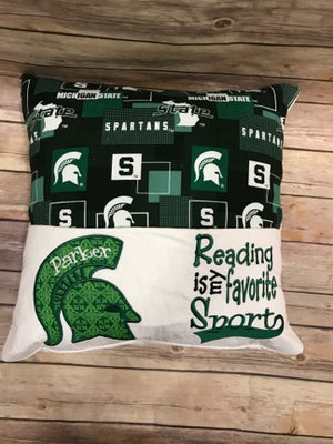 Michigan State University Reading Pillow Officially Licensed