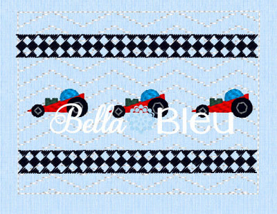 Pine Car Derby Boys Faux Smocking machine embroidery design