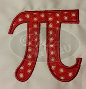 Pi Symbol Applique Saying Machine Embroidery Design