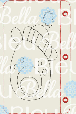 ITH Polar Bear Coloring Page Pages Machine embroidery design 5x7