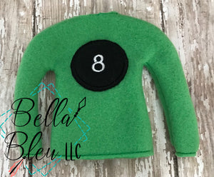 8 Ball Pool  ITH Elf Sweater Shirt machine embroidery design