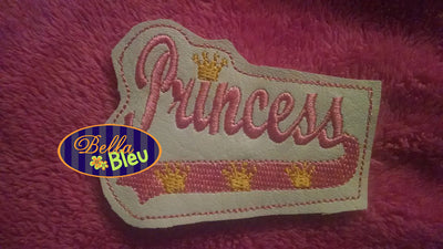 Princess Headband slider topper machine embroidery design