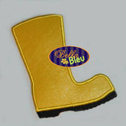 Summer time Rubber Rain Boots Wellies Puddle Jumper Mud Applique Embroidery Designs