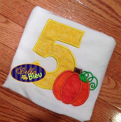 5th Fifth Five Fall Pumpkin Birthday Party
