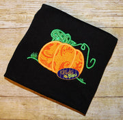 Harvest Pumpkin Fall Monogram Applique Embroidery Designs Design 3 sizes