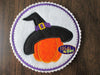 Halloween Witch Hat Pumpkin Machine Applique Embroidery Design