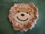 Raggy Lion head bean stitch applique