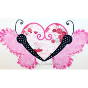 Raggy butterfly bean stitch applique