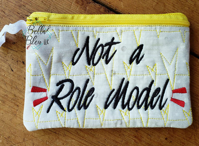 ITH Not a Role Model Zipper bag wallet