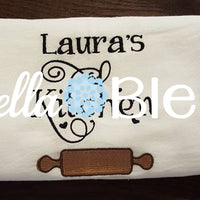 Applique Kitchen Rolling Pin Machine Embroidery Design