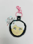 In the Hoop Inspired Golden Girls Rose Key Fob