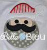 Santa with Mustache Machine embroidery designs, Embroidery Christmas, Applique Designs,