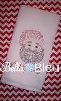 Beautiful Colorwork Redwork Christmas Santa Claus quick stitch