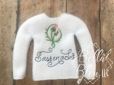 Inspired Outlander Sassenach ITH Elf Sweater Shirt
