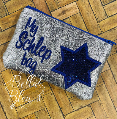 ITH Jewish My Schlep bag Star of David  Zipper bag wallet