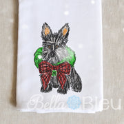 Christmas Scottie Dog Scribble Sketchy