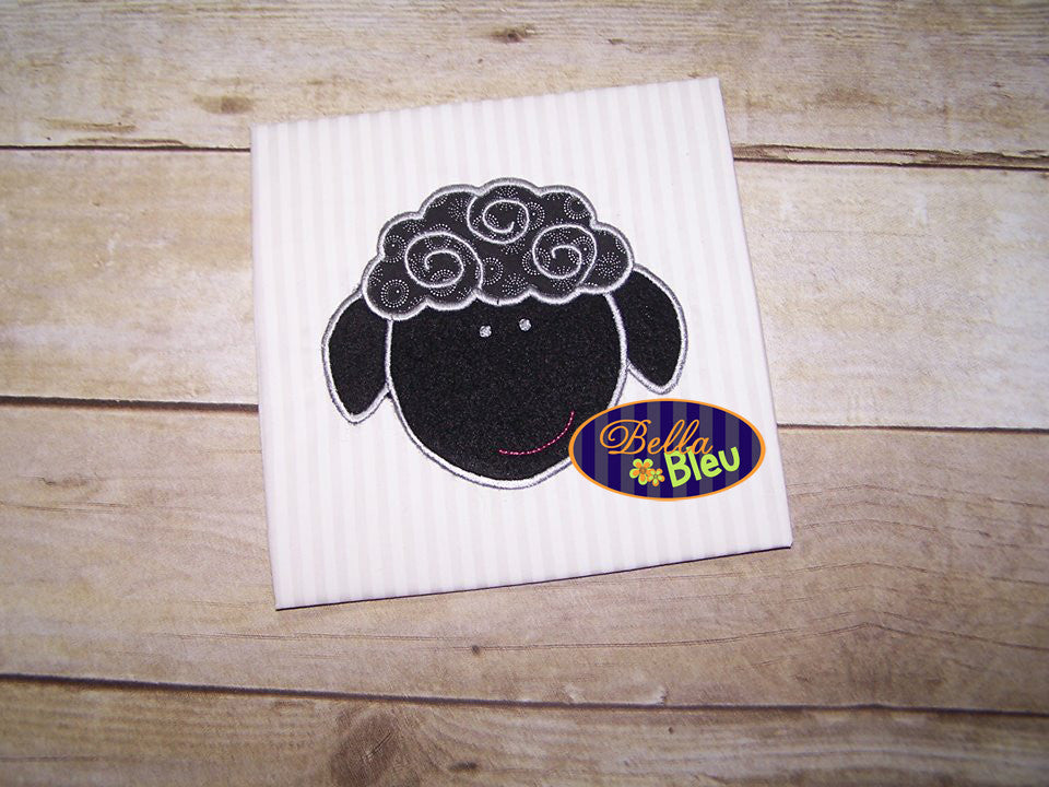 Cuddly Sheep Lamb Machine Applique Embroidery design