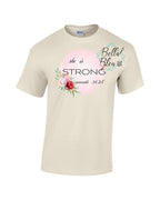 She is Strong Proverbs 31:25 religious Sublimation file