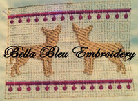 Faux Smocking Chihuahua Dog Machine Embroidery Design