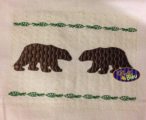 Faux Smocking Smock Smocked Black brown Bear Machine Embroidery Design