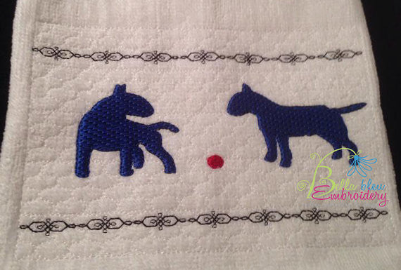 Faux Smocking Smock Smocked Bull Terrier Machine Embroidery Design