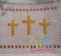 Faux Smocking Cross Easter Religious Machine Embroidery Design