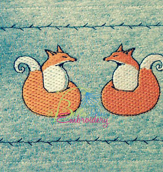 Faux Smocking Smock Smocked Fox Machine Embroidery Design