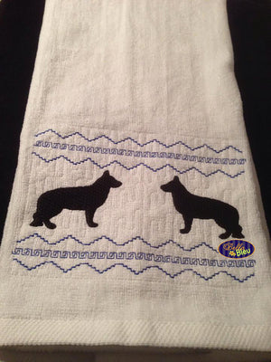 Faux Smocking Smock Smocked German Shepard Dog Machine Embroidery Design