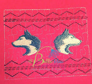 Faux Smocking Smock Smocked Husky Huskies Dog Machine Embroidery Design