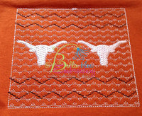 Faux Smocking Smock Smocked Longhorns Longhorn Steer Machine Embroidery Design