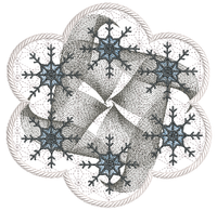 Snowflake Holiday Candle Mat In the hoop ITH 8x8 hoop