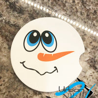 Winter Snowman Drink Sand Stone Car coaster