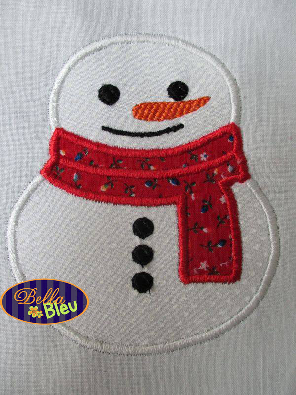 Christmas Snowman Winter Frozen Machine Applique Embroidery Design